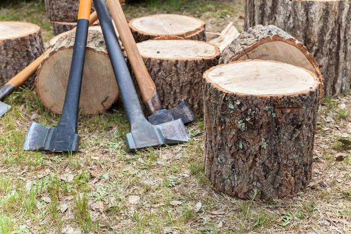 薪割り台と斧