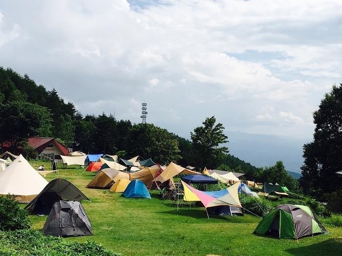 山のキャンプ場