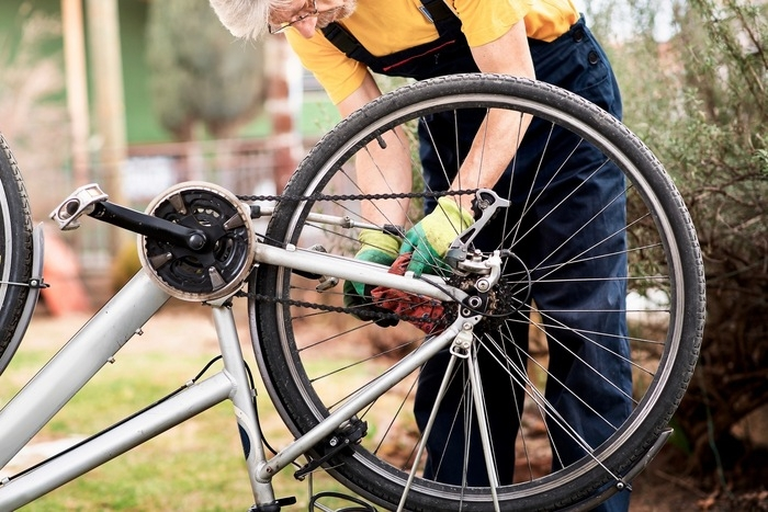 自転車 ホイール交換