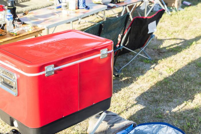 キャンプ場で活用しているクーラーボックス