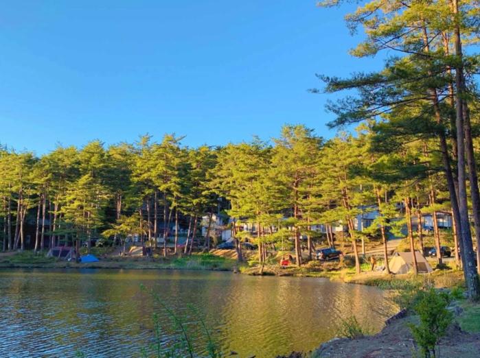 おおぐて湖キャンプ場の湖畔サイトの画像