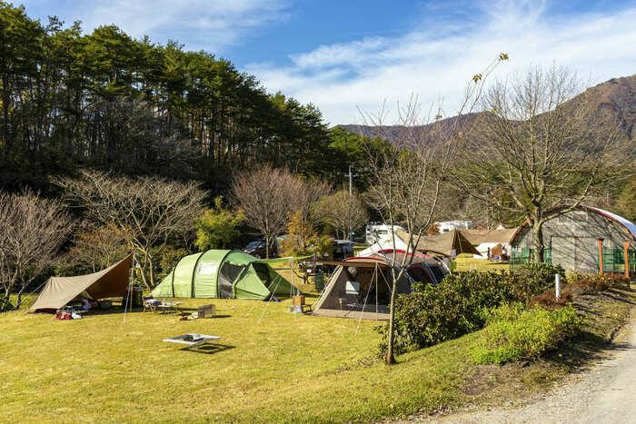 中蒜山オートキャンプ場のキャンプサイトの画像