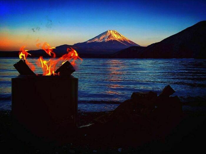 富士山をみながらキャンプ