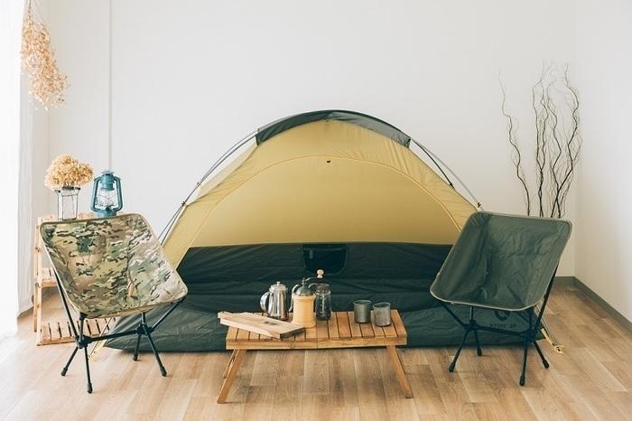 おうちキャンプの様子