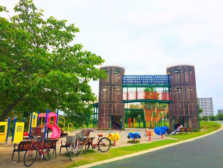 汐入公園のアスレチック
