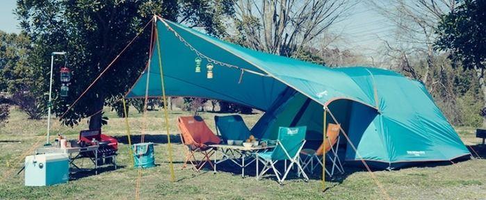 コールマンのアイテムを使用したキャンプイメージ