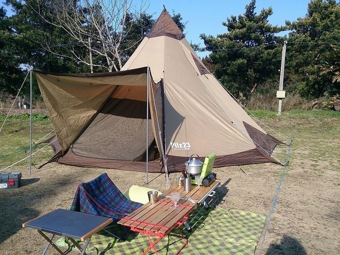 千葉県勝浦へキャンプ場の様子