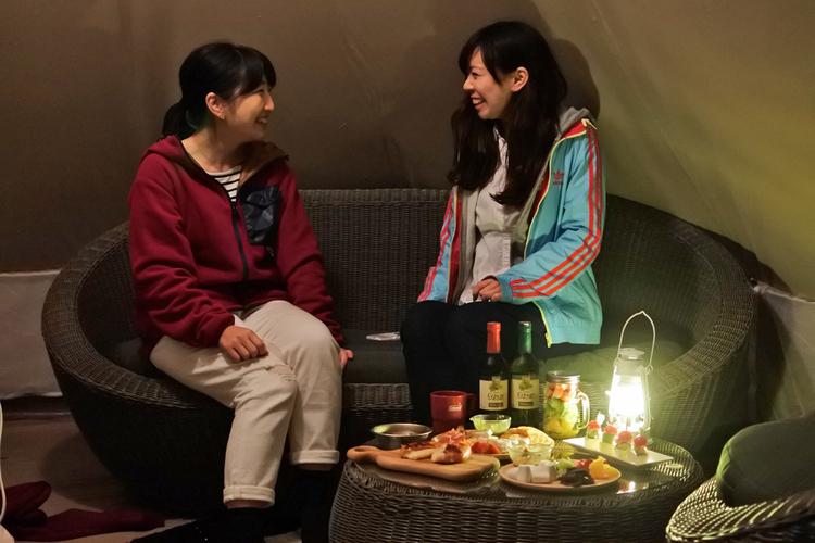 【森と星空キャンプヴィレッジ】女子会グランピング2