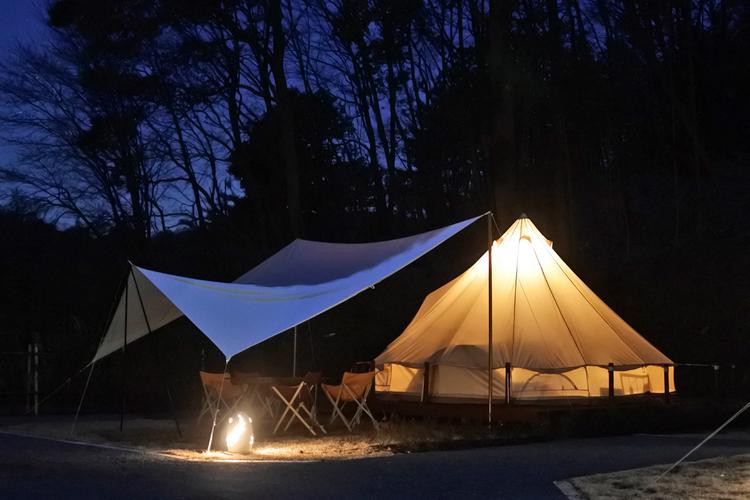 【森と星空キャンプヴィレッジ】夜のテントサイト