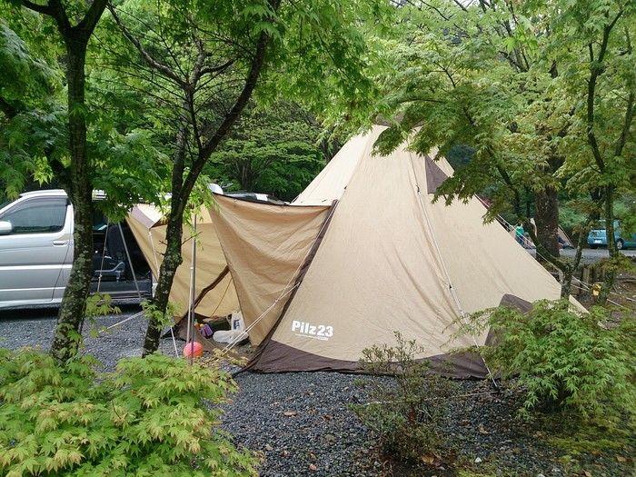 毛呂山町ゆずの里オートキャンプ場の様子