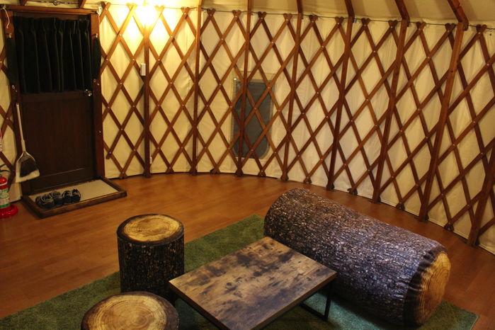 PICA富士吉田のマッシュルームパオの室内の様子