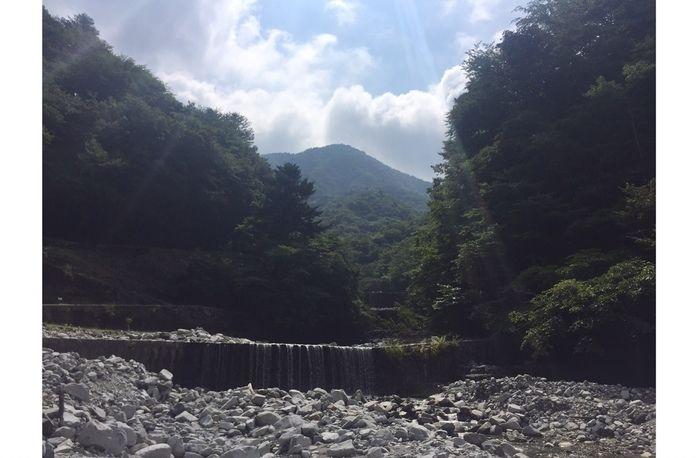 ウェルキャンプ西丹沢の川辺