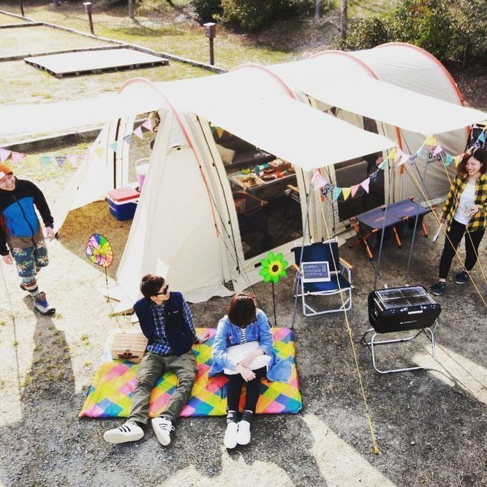 カマボコテントのテントサイト