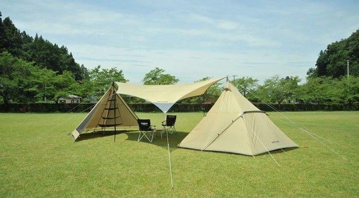 ユニフレームのテントでのキャンプ