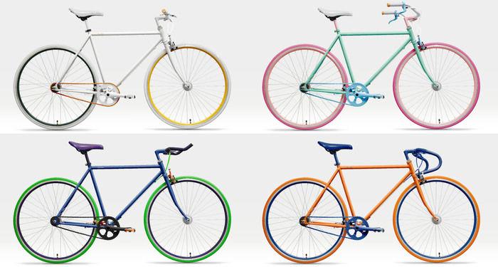 Cocci Pedaleの4色の自転車