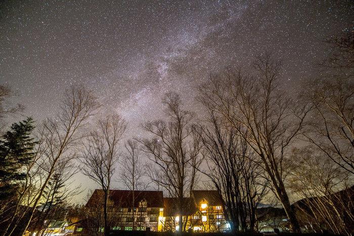 しらびそ高原山岳オートキャンプ場の星空
