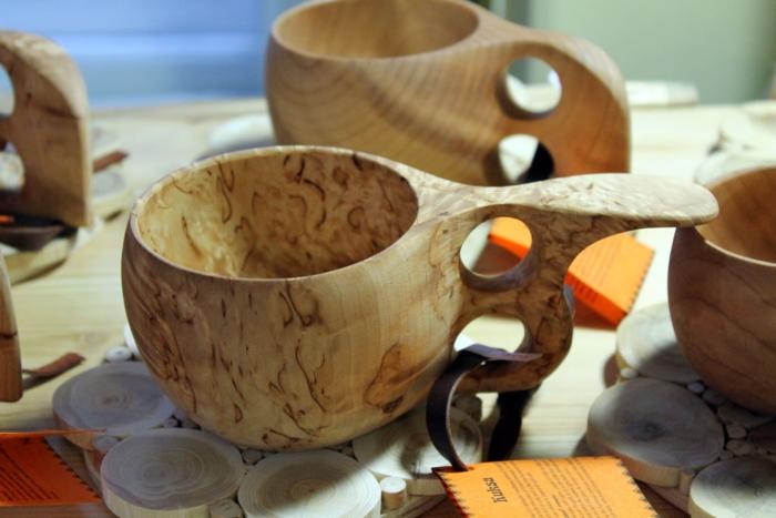 ククサの木製マグ