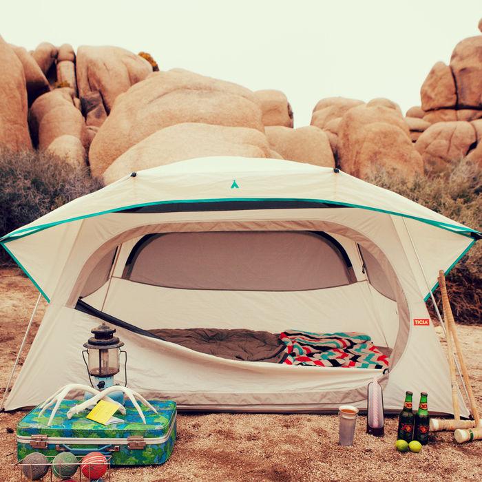 ティクラのテントの使用例