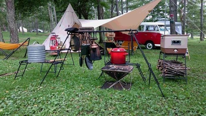 アイアンクラフトのキャンプギアのキャンプサイト