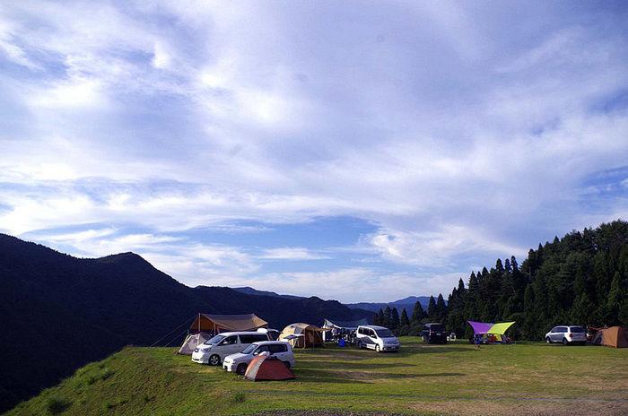 若杉高原おおやキャンプ場のキャンプサイト