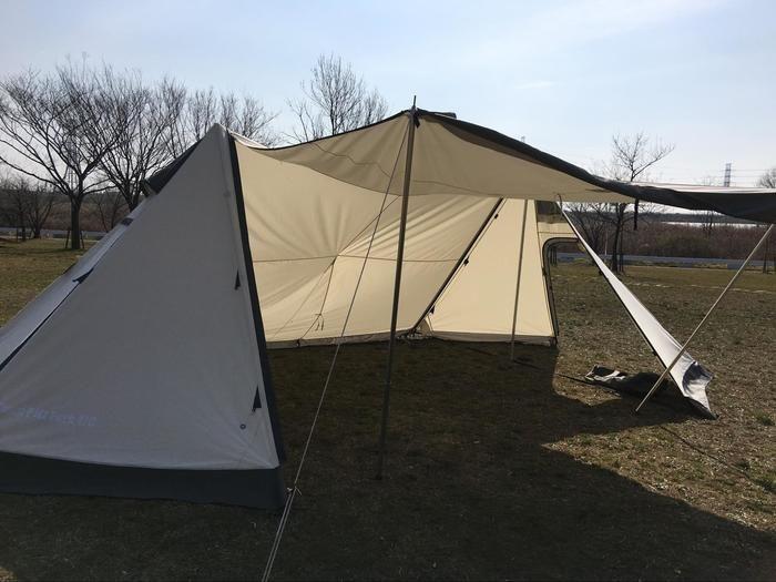 コットンタイプのテント