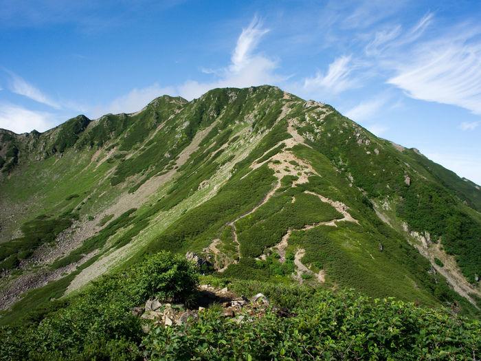傾斜が急な山