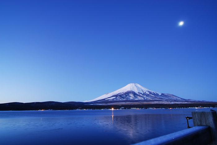 山中湖から見える富士山