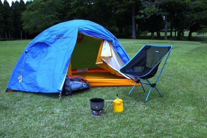 ダンロップのテントとキャンプチェア