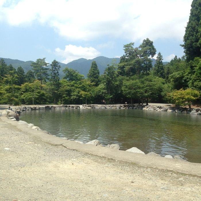 道志の森キャンプ場のプール