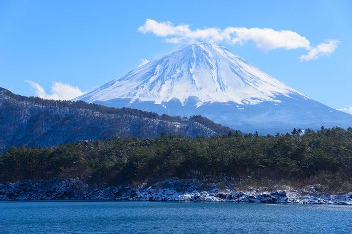 富士山と湖
