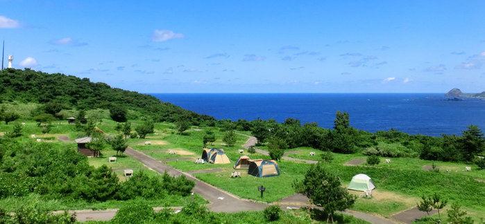 休暇村佐渡の海を望むキャンプサイト