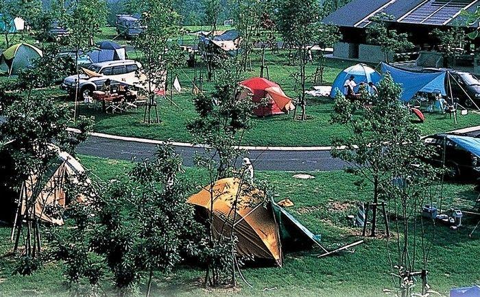 広島のおすすめキャンプ場 国営備北丘陵公園備北オートビレッジの風景
