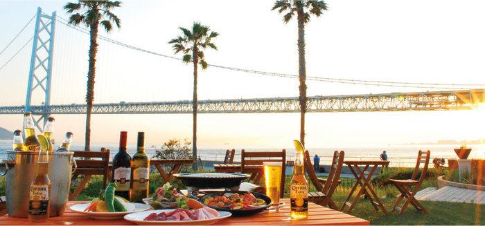 ホテルセトレ神戸・舞子から一望できる海と明石海峡大橋
