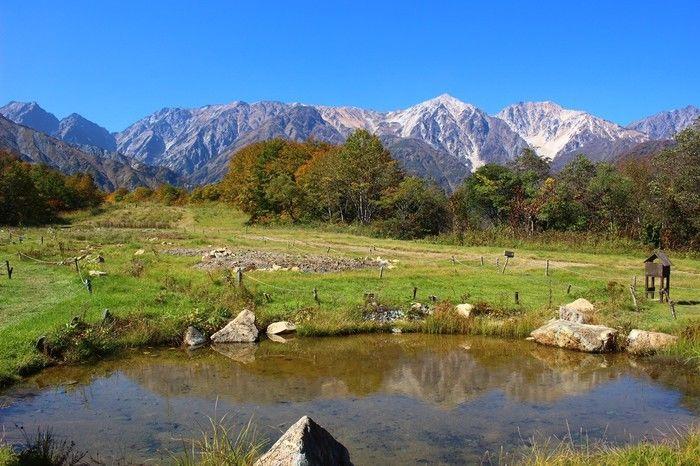 北アルプスの美しい山々
