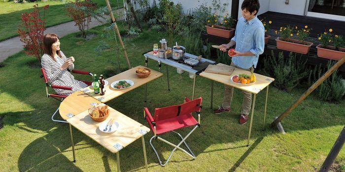 キッチンテーブルを使って野外でおしゃれにランチ