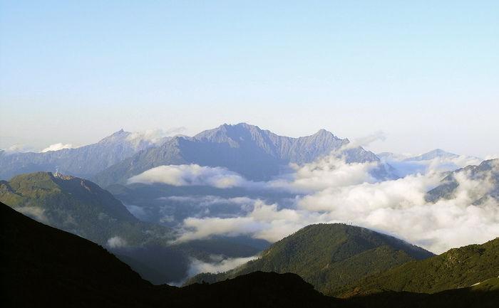 北アルプス山頂から見える景色