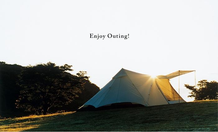 夕日に照らされるロゴスのグランベーシックテント