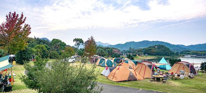 大池オートキャンプ場の外観