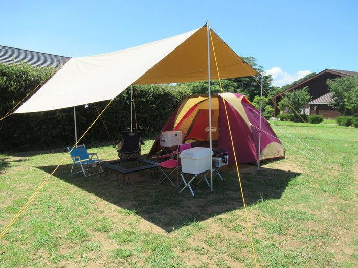 コールマンでキャンプ