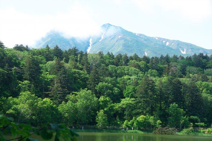 山と緑の森と湖
