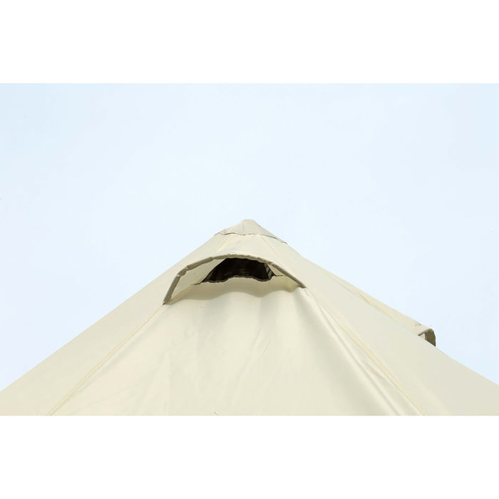 キャプテンスタッグのワンポールテントの天井ベンチレーションの画像