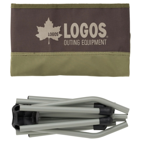 LOGOS Life コンパクトバケットチェア(ブラウン)の画像