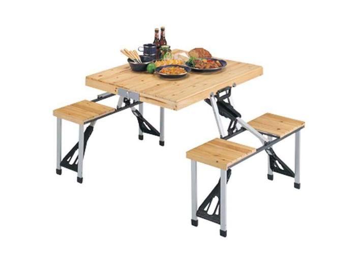 シダー杉製ピクニックテーブル(ナチュラル)