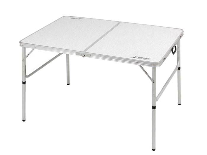 ラフォーレアルミツーウェイテーブル(アジャスター付)〈LL〉120×80cm