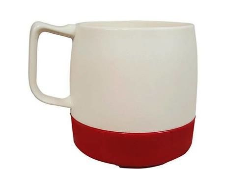 8oz. Mug 2TONE Off White/Red
