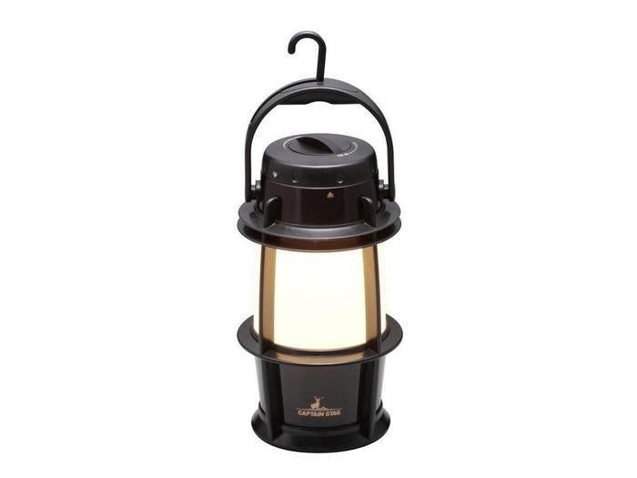 ゴッド 暖色LEDランタン<無段階調光>メタルブラック