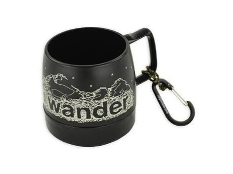 and wander DINEX printed mug black