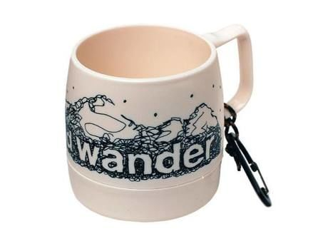 and wander DINEX printed mug off white