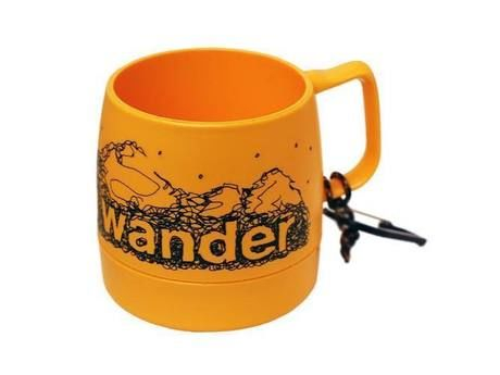 and wander DINEX printed mug yellow