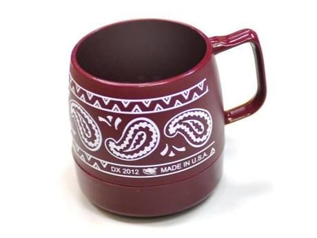 Wide Printed 8 oz.Mug Cranberry / BANDANA